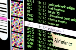 Genomic mapping of APOE, which is one of the markers for Alzheimer's